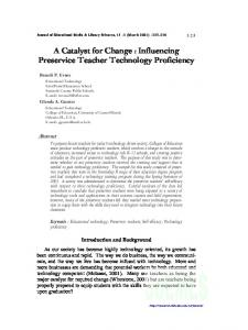 A Catalyst for Change : Influencing Preservice Teacher Technology ...