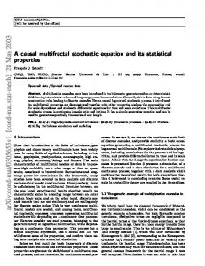 A causal multifractal stochastic equation and its statistical properties