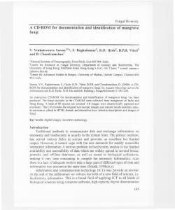 A CD-ROM for documentation and identification of ... - Fungal diversity