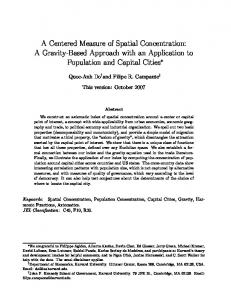 A Centered Measure of Spatial Concentration