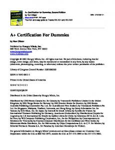 A+ Certification for Dummies, 2nd Edition.pdf - Index of