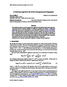 A Chaining Algorithm for Online Nonparametric Regression