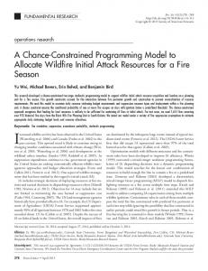 A chance-constrained programming model to allocate wildfire initial ...