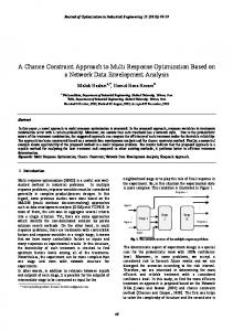 A Chance Constraint Approach to Multi Response