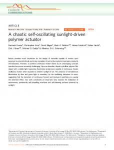 A chaotic self-oscillating sunlight-driven polymer actuator - HechtLab