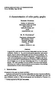 A characterisation of cubic parity graphs - The Australasian Journal of ...