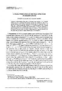 a characterization of spectral operators on hilbert spaces - American