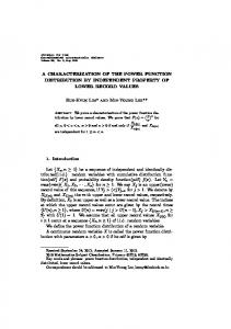 A characterization of the power function distribution by independent ...