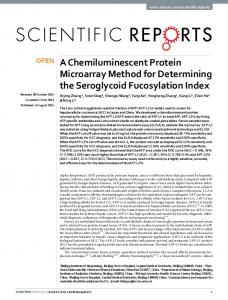A Chemiluminescent Protein Microarray Method ... - Semantic Scholar