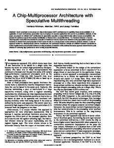 A Chip-Multiprocessor Architecture with Speculative Multithreading