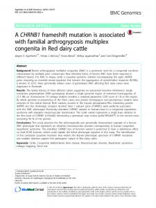 A CHRNB1 frameshift mutation is associated with familial ... - Core