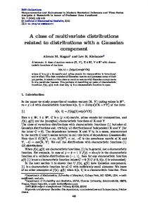 A class of multivariate distributions related to ... - Project Euclid