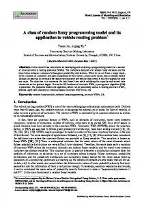 A class of random fuzzy programming model and its application to ...