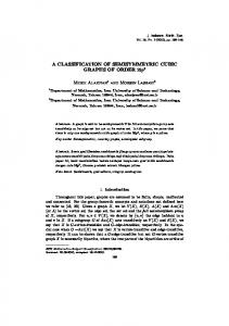 A CLASSIFICATION OF SEMISYMMETRIC CUBIC GRAPHS ... - Neliti