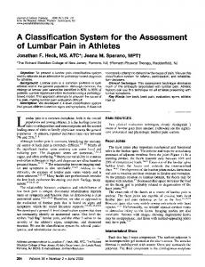 A Classification System for the Assessment - NCBI