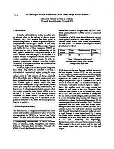 A Climatology of Weather Influences on Electric Power Outages in ...