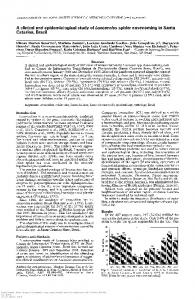 A clinical and epidemiological study of Loxosceles spider envenoming ...
