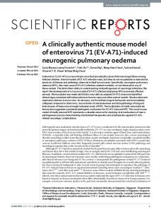 A clinically authentic mouse model of enterovirus 71 (EV-A71) - Nature