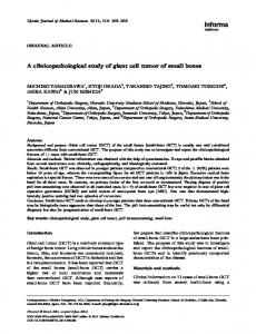 A clinicopathological study of giant cell tumor of small bones