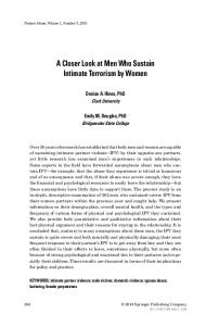 A Closer Look at Men Who Sustain Intimate ... - Clark University