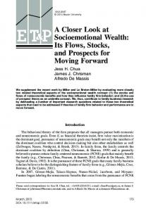 A Closer Look at Socioemotional Wealth: Its Flows, Stocks, and ...