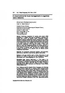 A Cloud Service for Trust Management in Cognitive ... - UCF EECS