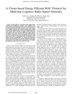 A Cluster-based Energy Efficient MAC Protocol for ... - Semantic Scholar