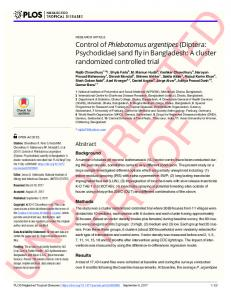 A cluster randomized controlled trial - PLOS