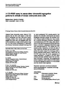 A CO-FISH assay to assess sister chromatid ... - Springer Link