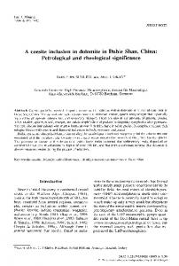 A coesite inclusion in dolomite in Dabie Shan, China: Petrological and ...