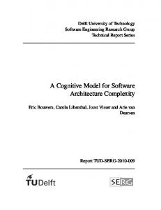 A Cognitive Model for Software Architecture Complexity