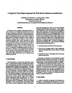 A Cognitive Trust-Based Approach for Web Service Discovery and ...