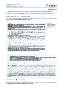 A collaborative approach to improving patient access in general practice