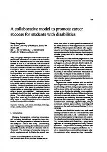 A collaborative model to promote career success for ... - Angelfire