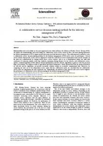 A Collaborative Service Decision-making Method for the ... - Core
