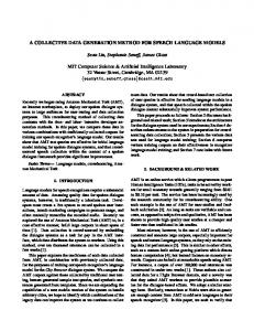 A COLLECTIVE DATA GENERATION METHOD FOR SPEECH ...