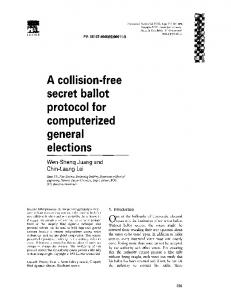 A collision-free secret ballot protocol for computerized general elections