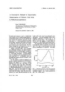 A Colorimetric Method for Quantitative Determination ...