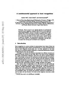 A combinatorial approach to knot recognition