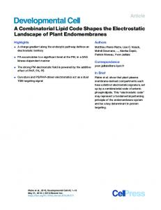 A Combinatorial Lipid Code Shapes the Electrostatic ... - Cell Press