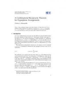 A Combinatorial Reciprocity Theorem for