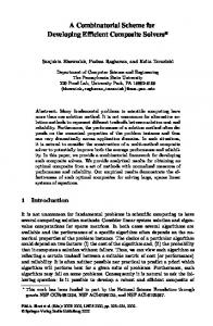 A Combinatorial Scheme for Developing Efficient ... - Semantic Scholar