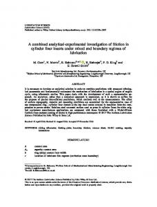 A combined analytical-experimental ... - Wiley Online Library