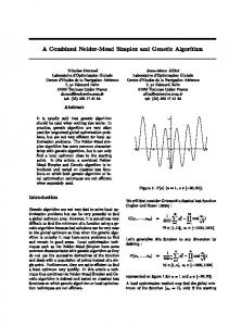 A Combined Nelder-Mead Simplex and Genetic Algorithm ... - Alliot