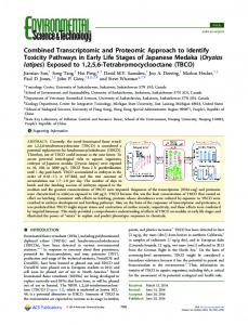 A combined transcriptomic and proteomic ... - ACS Publications