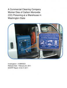 A Commercial Cleaning Company Worker Dies of Carbon Monoxide ...