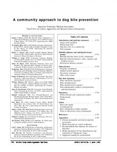 A Community Approach to Dog Bite Prevention