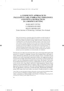 a community approach to palliative care ... - Semantic Scholar
