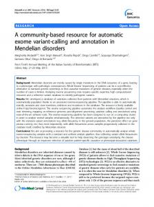 A community-based resource for automatic exome variant-calling and ...