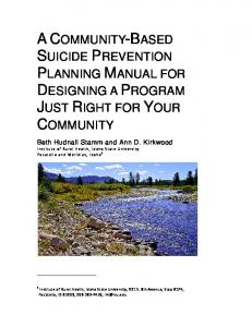 A Community-Based Suicide Prevention Planning Manual for ...
